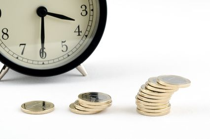 Time is money, a conceptual business shot